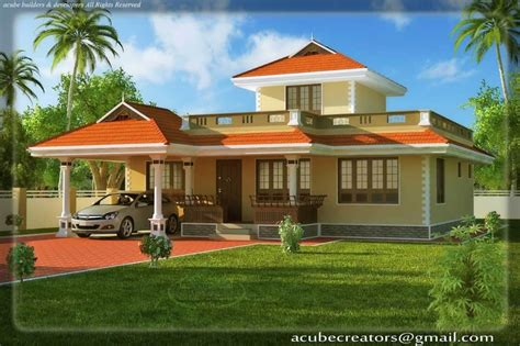 kerala style house elevation sqft