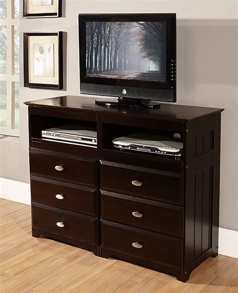 dresser with tv stand discovery world furniture espresso media chest kfs stores