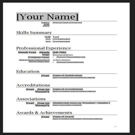 resume templates word cyberuse
