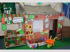 Garden roleplay area classroom display photo Photo