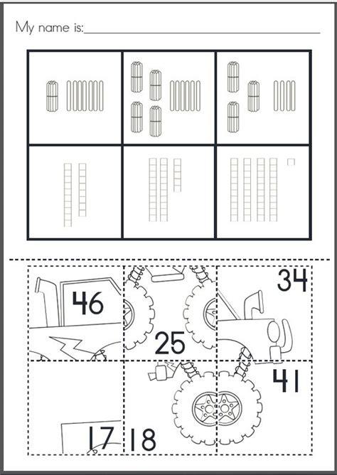 place value puzzle pastes cut paste worksheets