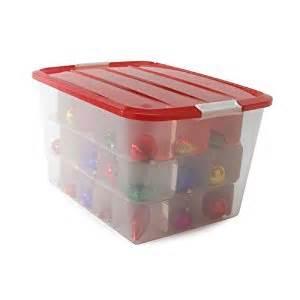 amazon com christmas ornament storage box iris bcb 60 clear red 13 25 quot h x 16 75 quot w x 22