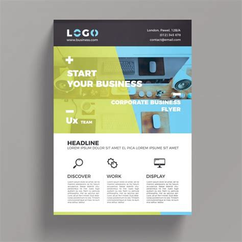 Colorful Corporate Business Flyer Template Psd File Free Free Downloadable Templates For Flyers Corporate