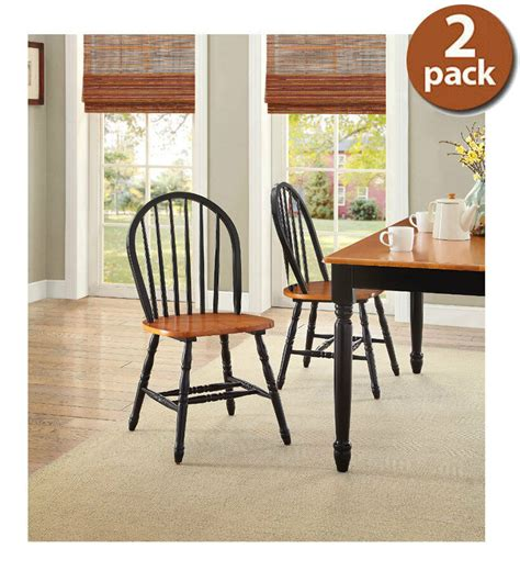 farmhouse dining room chairs set   kitchen wood windsor