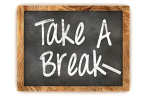 blackboard take a break stock illustration image 52378682