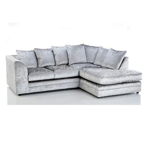 gray velvet sectional sofa michigan crushed velvet 4 seater sofa silver grey