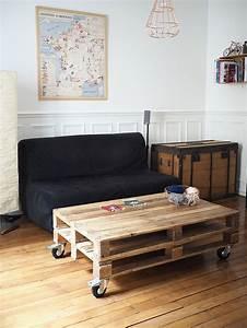 Table Basse Palettes : comment faire une table basse avec des palettes palette ~ Melissatoandfro.com Idées de Décoration