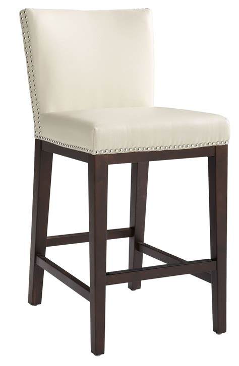 Vintage Cream Leather Counter Stool From Sunpan (65873