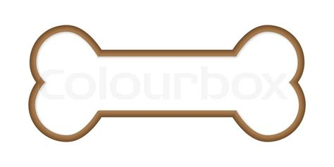 dog bone stock vector colourbox
