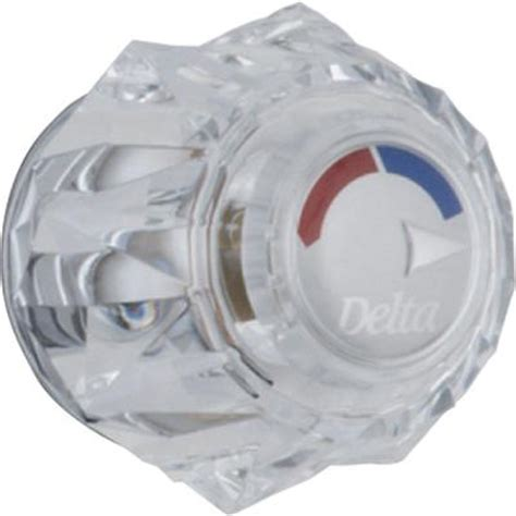 Delta Shower Faucet With Temperature Control by Clear Knob Handle For 13 14 Series Shower Faucets H71