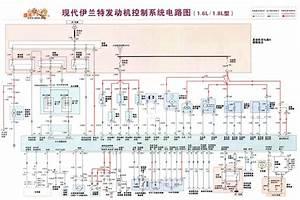 Hyundai Elantra Engine Control System Circuit  1 6l  1 8l