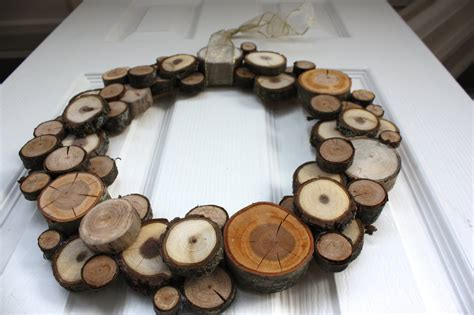 wooden wreath woodland christmas natural wood slice wreath dining and entertaining