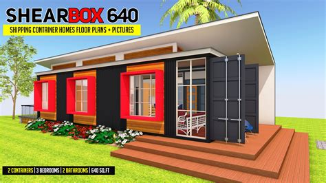 shearbox  container homes floor plans