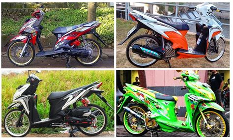 Beat Orange Putih 2014 Modifikasi by Motor Rakitan Modifikasi Motor Honda Beat Pop