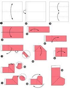 origami facile de noel 靴下の折り紙