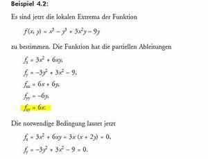 Ableitungen Berechnen : partielle ableitungen von f x y x 3 y 3 3x 2 9y berechnen f r lokale extrema mathelounge ~ Themetempest.com Abrechnung