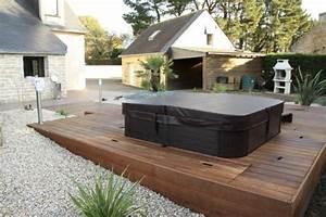 Installer Une Terrasse En Bois : am nagement de jardin spa et terrasse en bois exotiques vannes morbihan arbor mineral ~ Farleysfitness.com Idées de Décoration