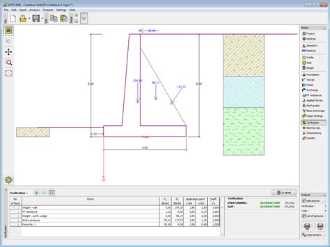 wall design software geo5 cantilever wall geotechnical design software earth