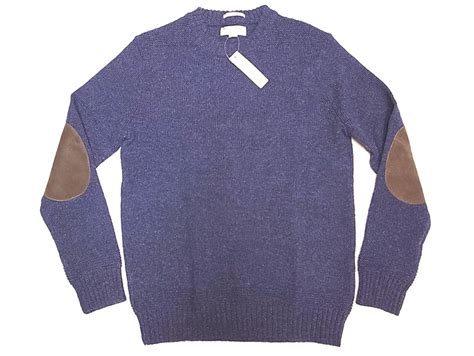 Wallace & Barnes By J.crew Shetland Sweater Navy-mix スウェード