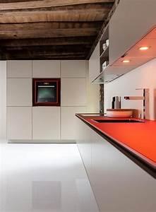 trend farbe farbe in der kuche schoner wohnen With arbeitsplatte küche rot