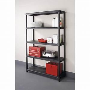 Etagere De Jardin : etag re r sine kis 5 tablettes noir l120xh187xp40 cm ~ Premium-room.com Idées de Décoration