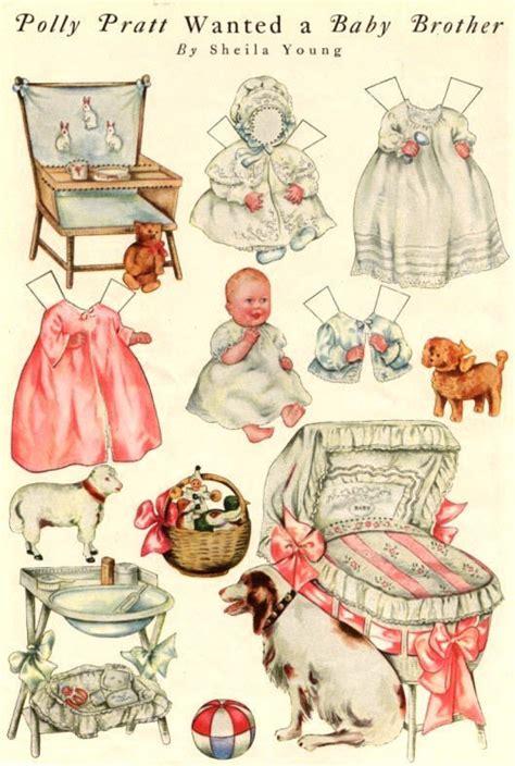vintage toy chest paper dolls