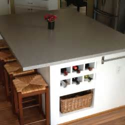 kitchen island cabinet base kitchen island made around four base cabinets on front side built in wine rack on one end