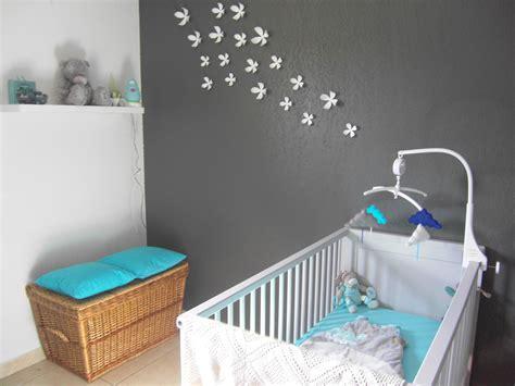 deco chambre bebe bleu gris décoration chambre bebe turquoise