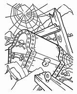 Coloring Shipwreck Treasure Pirate Chest Fish Designlooter Adult Kidsplaycolor sketch template