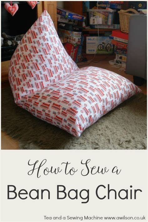 tutorial easy bean bag chair sewing
