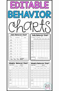 Weekly Reward Chart Behavior Charts For Behavior Management Editable