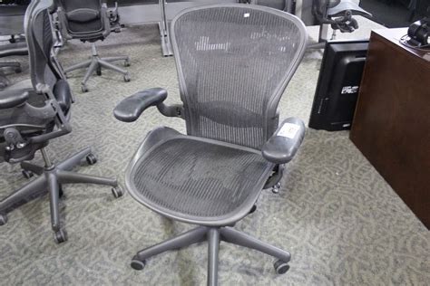 herman miller aeron fully adjustable ergonomic mesh back