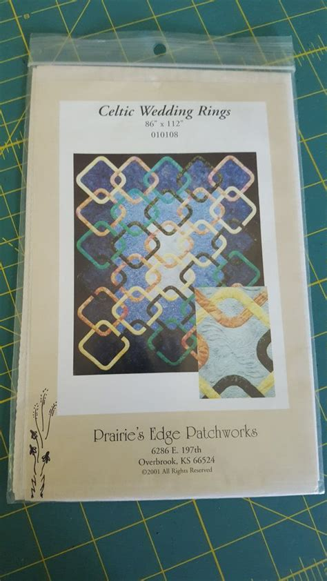 celtic wedding rings quilt pattern by busybirdee etsy quilts celtic wedding rings