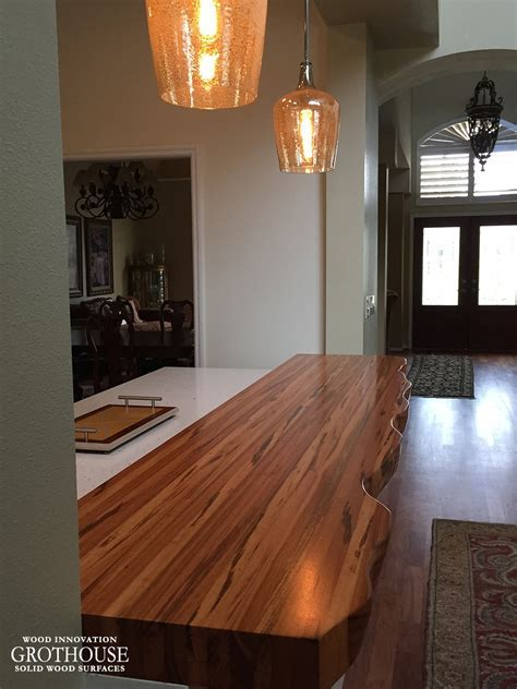 Tigerwood Countertop with Faux Live Edge in Florida