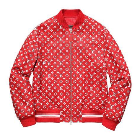 louis vuitton supreme  leather bomber varsity jacket monogram  worlds