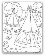 Teepee Coloring Indian Tipi Pages Tent Drawing Wigwam Indians Printable Native American Tepee Pee Tee Cherokee Sheets Template Homes Colouring sketch template