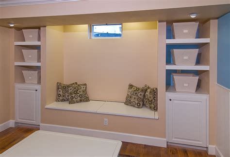 Storage Cabinets For Basement by Harlan Basement Finished Basement Company