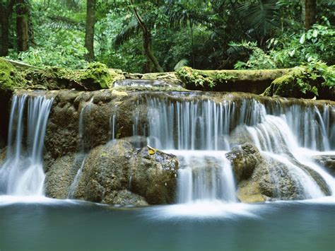 tropical waterfall thailand desktop hd wallpapers