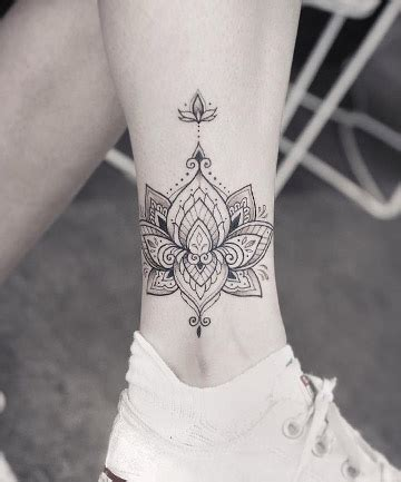 Shaded Lotus Mandala Tattoo, 17 Mandala Tattoos That Bring