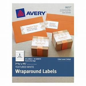 textured white wraparound labels 7 17 20quot x 1 3 4quot pack With avery 3x3 labels