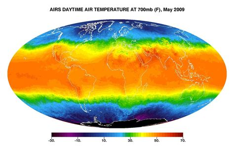 Space Images   Global Daytime Air Temperature for May 2009