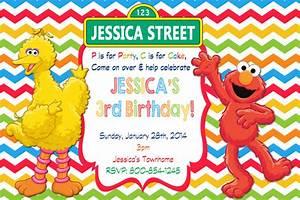 Elmo Sesame Street Birthday Party Invitations Drevio