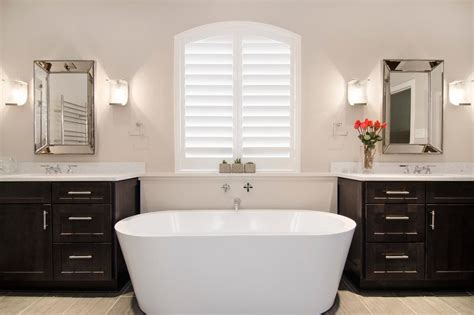 modern master bathroom  freestanding bathtub hgtv
