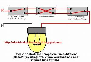 2 Way Switch  How To Control One Lamp From Three Different