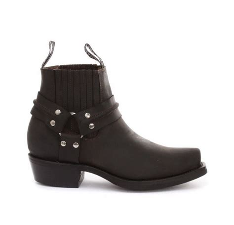 real biker boots unisex real leather biker ankle boots rock punk grinders