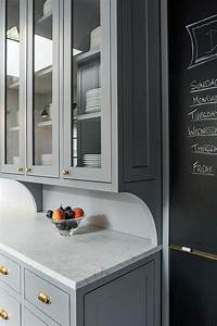 kitchen with chalkboard on slate pantry door With best brand of paint for kitchen cabinets with gold and silver wall art