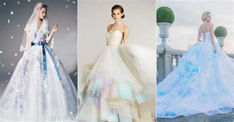 Color On White? 20 Beautiful White Wedding Dresses With A