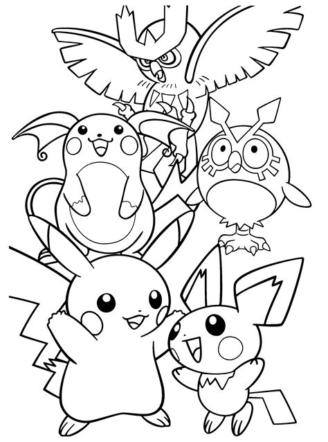 Kleurplaat Mega Evolutions Pikach by Snorlax Coloring Pages Coloring Pages