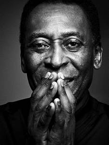 Black and white photography portrait man Pele ...