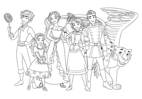 elena  avalor characters colouring pages  coloring pages